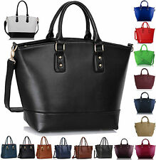 Oversized Womens Designer Shoulder Faux Leather Bag Tote Shopper Satchel Handbag