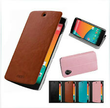 Mofi New Flip Thin PU Leather Skin Cover Stand Case For LG Google Nexus 5