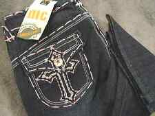 """MISS CHIC JEANS - NWT """"Cross"""" Bootcut, THICK PINK STITCH - Sizes 1 & 3 AVAILABLE"""