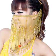 New Belly Dance handmade Veil Sequins Voile Wrap Hot 8 color