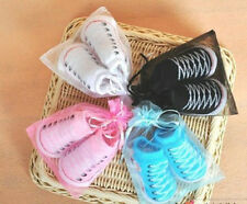 New Born Baby Infant Soft Canvas Style Anti-skidding Socks Fake-shoes 7 Colors