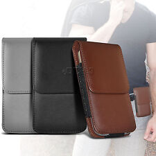 PU Leather Pouch Belt Holster Flip Case Cover Holder For Various Mobile