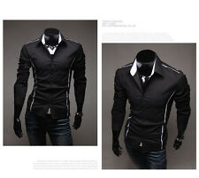 New Style Mens Luxury Casual Slim Fit Stylish Dress Shirts 3Colors 4Size HOTSALE