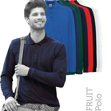 Fruit Of The Loom - 63310 - Mens Premium Long Sleeve Polo Shirt (8 Cols)