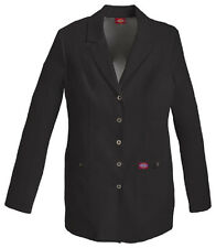 "Scrubs Dickies 28"" Xtreme Stretch Snap Front Lab Coat 82400 Black  Buy 3 Ship $6"