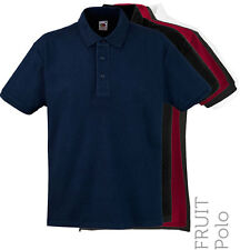 Fruit Of The Loom - 63000 - Mens Heavy Cotton Polo Shirt (5 Cols)