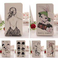 CUTE Leather Wallet DESIGN Case Cover Skin Stand For Alcatel One Touch Idol Mini
