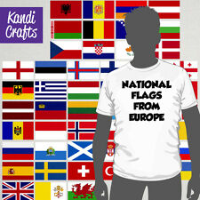 Flags In Europe - Iron On T-Shirt Transfer - [ a5 ]