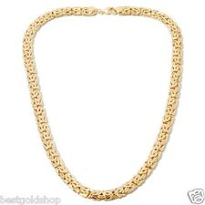 Technibond Classic Byzantine Chain Necklace 14K Yellow Gold Clad Silver 925