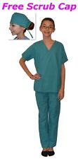 Kids Scrubs Teal Green REAL Childrens Doctor and Nurse Scrub Sets