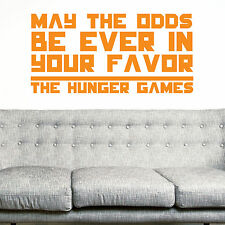 THE HUNGER GAMES, LARGE WALL STICKER, Quote, Decal, WallArt, SS1424