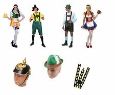 OKTOBERFEST GERMAN BEER COSTUMES ACCESSORIES HAT GLASSES FANCY DRESS OCTOBERFEST