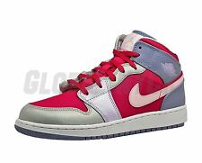 Nike 555112-609 Grade School Youth Air Jordan Retro 1 Mid GG Hyper Arctic Pink