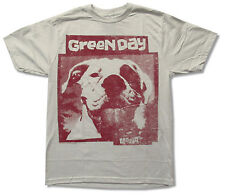 "GREEN DAY ""SLAPPY"" DOG LIGHT GREY SLIM FIT T-SHIRT NEW NWT OFFICIAL ADULT"