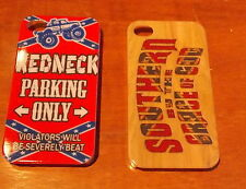 2 Styles Redneck Confederate Flag Southern South iPhone 4 4s 5 5s Hard case