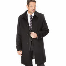 MENS GENTS LUXURY WOOL & CASHMERE COAT WITH FULLY LINED INNER BIG SIZES