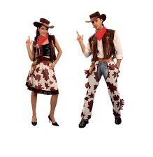 COWBOY / COWGIRL HOMME / FEMME COSTUME WILD WEST FANCY Robe Pour ADULTE