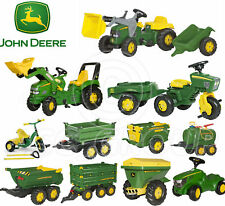 Rolly Toys - John Deere Pedal Tractors Trailers Loader Tanker Trike Spreader NEW