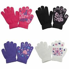 (Free PnP) Girls Fun Winter Magic Gloves with Rubber Print