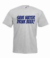 SAVE WATER DRINK BEER funny NEW Men Women T SHIRTS TOP size 10 12 s m l xl xxL