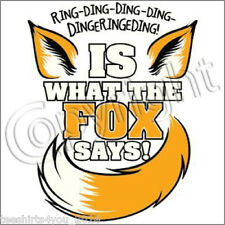 New WHAT DOES THE FOX SAY? YLVIS NORWEGIAN DANCE MUSIC YOUTUBE VIDEO T-SHIRT TEE