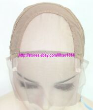 Light Brown Glueless Full Lace Wig Cap Human Wigs Making Caps Stretchy Durable