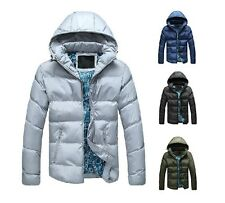 Men's Cotton-Padded Lightness Down Coat Hooded Winter Cold Weather Warm Jackets