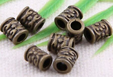 100/200Pcs Bronze Plated Spacers Beads Findings 7x5mm
