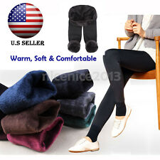 Thick Fur Winter Fashion Womens Deer Snowflake Knitted Leggings Tights Pants