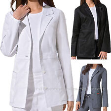 Dickies Scrubs Womens Lab Coat Junior Fit Youtility Black White Gray Navy 82408