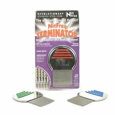 Nit Free Terminator Head lice and egg removal comb with micro grooves