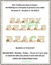 T-shirt - Your Name in -- SANDY SHELLS seashells - custom personalized