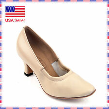 "712107 Beige 2.2"" Very Fine Quality Ballroom Latin Salsa Dance Shoes (sz4-10.5)"