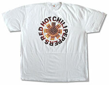 "RED HOT CHILI PEPPERS ""L.E.D."" WHITE SLIM FIT T-SHIRT NEW OFFICIAL ADULT SOFT"