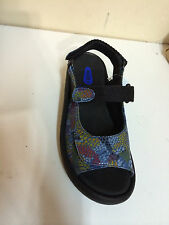 "womens WOLKY 'jewel"" comfort sandal, blue jean multi-color snake print fantacy"