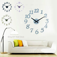 Bling Shining Rare Glitter DIY Wall House Home Decoration Numbers and Dots Clock
