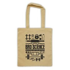 BRO SCIENCE BUILDING BETTER BODIES GYM WORKOUT CANVAS TOTE SHOPPING SHOPPER BAG