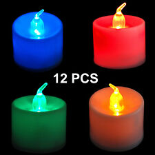 12 X LED Battery Operated Flickering Flameless Tealight Candles