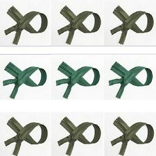 "wholesale 15-1000 zippers 22""/56cm green s closed end invisible zip for sale"