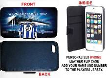 PERSONALISED UNOFFICIAL SHEFFIELD WEDNESDAY IPHONE PU LEATHER CASE