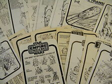 VINTAGE STAR WARS ORIGINAL INSTRUCTIONS VARIOUS VEHICLES & PLAYSETS (B)