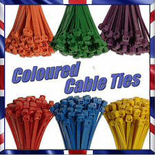 Strong Coloured Cable Ties Zip Tie / Tie Wrap Pick Your Colour