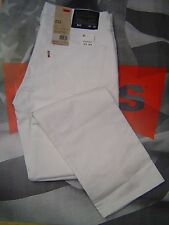 LEVI'S 511 MEN'S SLIM FIT LOW RISE ZIP FLY STRETCH JEANS WHITE