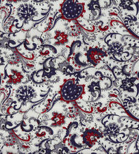 "Blue/Navy Paisley Liberty cotton fabric | 56"" wide 