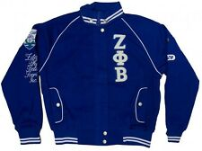 NEW! Zeta Phi Beta Sorority Inc. Twill Jacket - Blue/White - Z-Phi