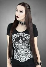 Restyle Haunted Mansion Spooky Gothic Manor Black Short Sleeved Shirt Top