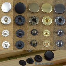 15/30 Set 10/12.5/15/17mm Snap Fasteners/Popper Press Stud Sewing Leather Button