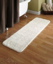 "54"" Microfiber Plush Bath Runners Rug Ivory Mineral Blue Beige or Sage Mat"