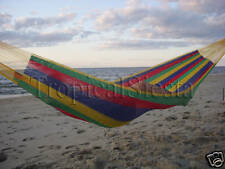 Breezy Point New Handwoven Mayan Mexican NYLON Double Hammock BED INDOORS & OUT