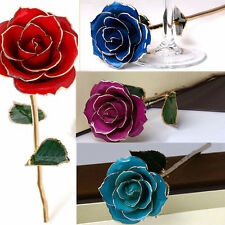 24K GOLD GENUINE PRESERVED ROSE Multi-Colored Roses Valentine's Day friend gift